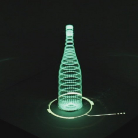 Projection Mapping on bottle